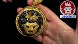 King Ice Gold Plated Magnus the Lion CZ Pendant Hip Hop Jewelry Kingice.com