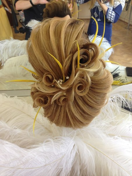 Вечерний прически из длинных волос мастер класс