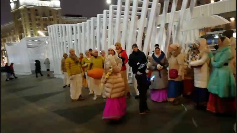 Трансляция Харинама ПРЕМА САНКИРТАНА м.Маяковская, Пушкинская 08.12.18