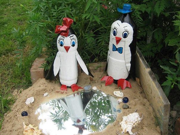 Украшение двора своими руками из пластиковых бутылок фото