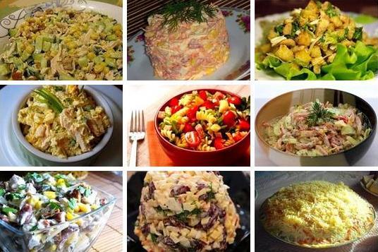 9 САМЫХ ВКУСНЕЙШИХ САЛАТОВ на каждый день. Подборка: 1. Салат вкусненький с сухариками. 2. Салат с копченым сыром. 3. Хрустящий салат с ананасами и курицей. 4. Салат из пекинской капусты с курицей. 5. Итальянский салат с ветчиной, сыром и овощами. 6. Салат с яйцом и ветчиной. 7. Салат с курицей, фасолью и сыром. 8. Быстрый салат с фасолью и крабовыми палочками. 9. Салат с корейской морковкой. ✔1. САЛАТ ВКУСНЕНЬКИЙ С СУХАРИКАМИ Состав: Огурец свежий - 1 большой, Грудка куриная отварная ( или…