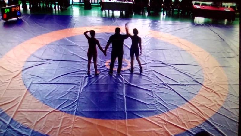 Змагання по вольній боротьбі в місті Миколаїв.Гуцалюк Юлія 54 кг