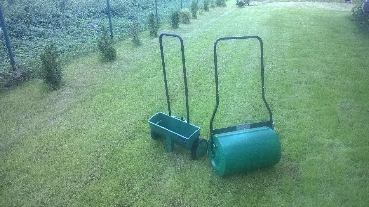 Как сделать каток для газона своими 528