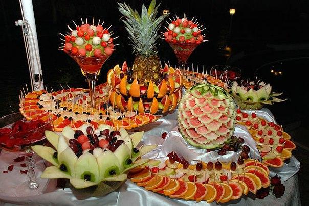Красивое оформление фруктов