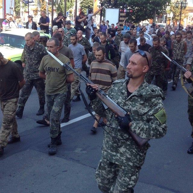 """""""Парад"""" военнопленных в Донецке состоялся!"""
