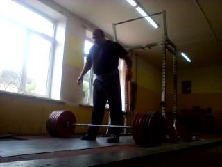 320 кг на 3, тяга