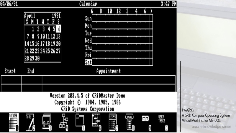 InteGRiD GRiD's Compass Virtual Machine for MS DOS