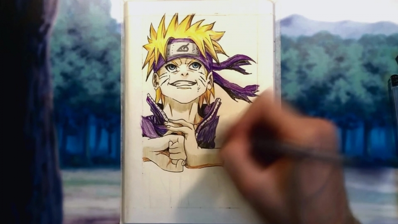 Speed Drawing Naruto by Alex D (1080p)