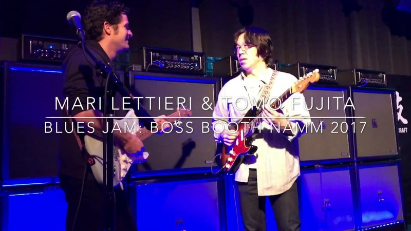 Mark Lettieri and Tomo Fujita - Blues Jam: Boss Booth NAMM 2017