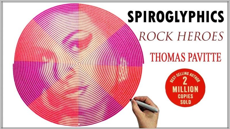 Spiroglyphics Rock Heroes. Мои Эксперименты с цветом в Раскраске Томаса Павитте. Спиральные Пазлы.