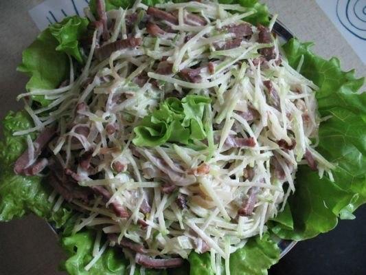 Мясные салаты - 10 рецептов.