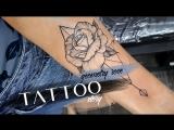 Tattoo story geometry rose