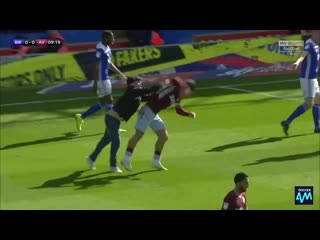 What a disgrace! weve never seen anything like this! - - a birmingham fan has run onto the