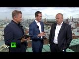 Тренер сборной России по футболу Станислав Черчесов даёт интервью RT — LIVE