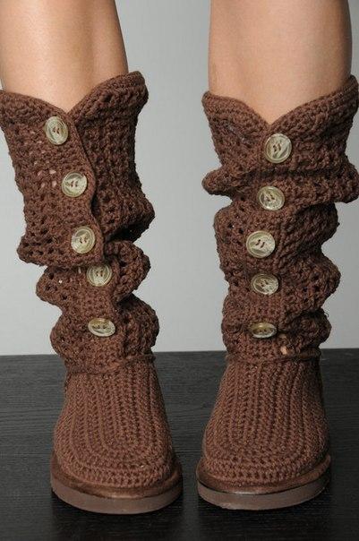 Вязаные домашние тапочки  Вязание спицами для начинающих