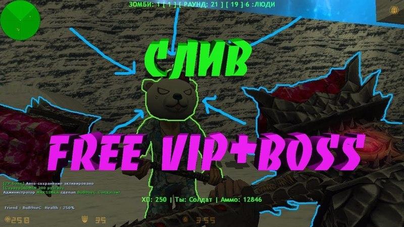Слив Привилегии-Зомби сервер FREE VIPBOSS