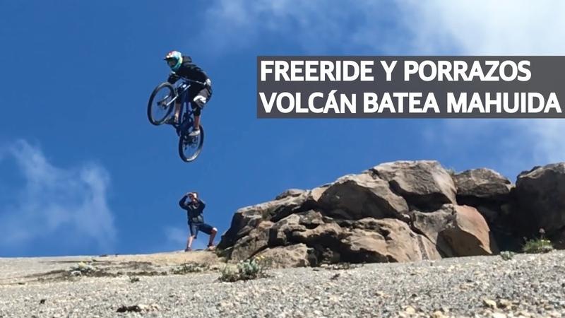 Freeride en Argentina, porrazos en Chile y descontrol general en el Volcán Batea Mahuida!
