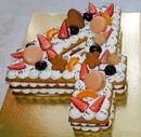 Медовый открытый торт Цифра
