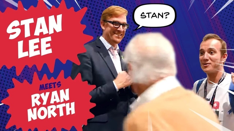 Stan Lee got into the shot during an interview with Ryan North || Stan Lee Cameo