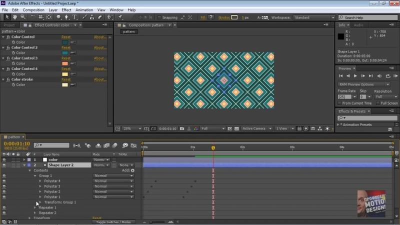Шейпы! Делаем анимированные паттерны, используя Shape Layers Repeater в After Ef