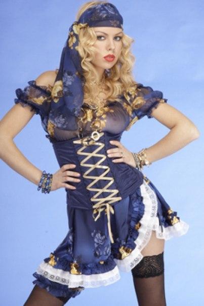 Игровой костюм Цыганочка, в комплекте: блуза,стринги, подвязка,
