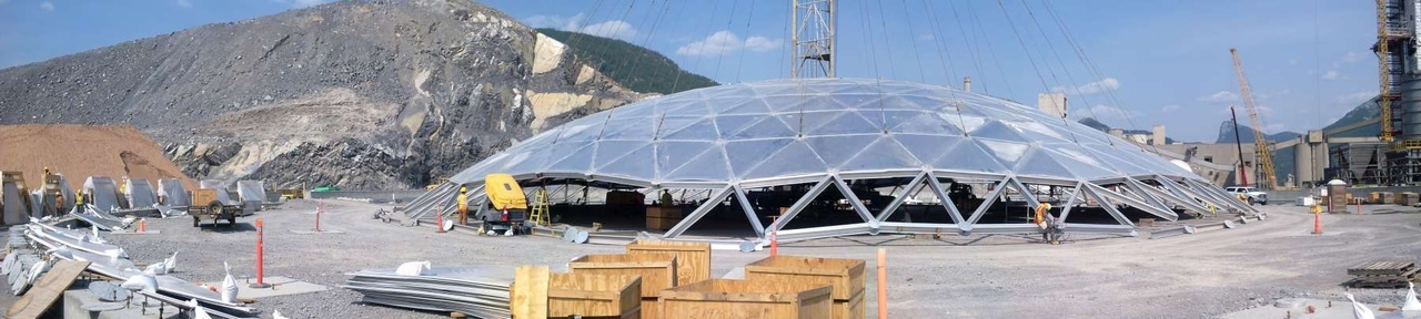 История геодезических купольных зданий