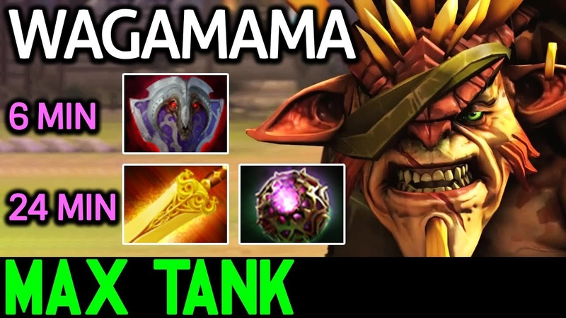 Wagamama [Bristleback] 24 Min Full Tank Build 7.18 Dota 2