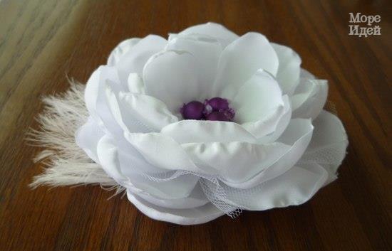 Роза. Цветы из ткани. МК. (8 фото) - картинка