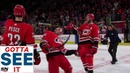 GOTTA SEE IT: Carolina Hurricanes Breakout The Limbo For Post-Game Celebration