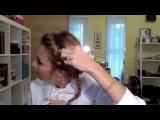Как сделать пышный пучок с косой