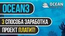 ТРИ СПОСОБА ЗАРАБОТКА В ИНТЕРНЕТЕ НА ПРОЕКТЕ OCEAN3 BIZ