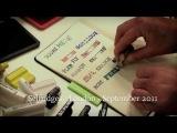 Интересный способ с помощью штампов сделать историю или запись в своем блокноте