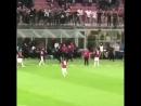 Кастильехо празднует гол Кутроне в ворота Ромы на последних минутах матча