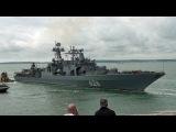 Russian Warship Vice Admiral Kulakov Visits Portsmouth England.