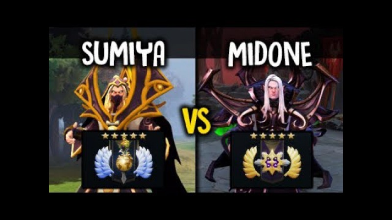 SumiYa vs Midone Epic Invoker Battle 7.07 Whos the Best? Divine vs Ancient Medal Dota 2