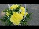 Желтый ароматический букет из мыла ручной работы. Гардения и махровые тюльпаны