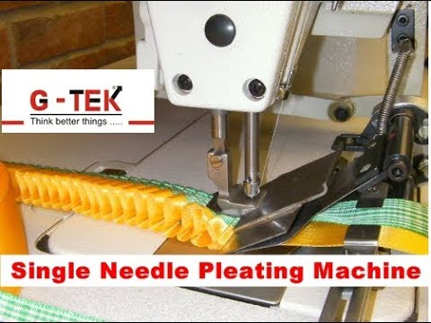 How to make box pleated badge making sewing machine knife pleats by gohilsew