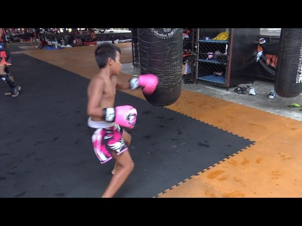 11 year old Petroiet working the bag