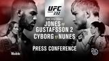 #UFC232: Jones vs. Gustafsson 2 – Пресс-конференция (3 ноября 🕛 00:00 ᴍsᴋ)
