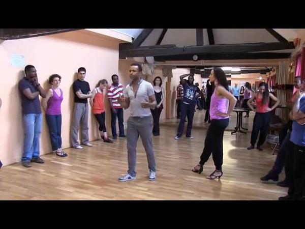 Cours de Kompa Kompa dance class Salsabor studio with Cliford and Gaëlle JASMIN