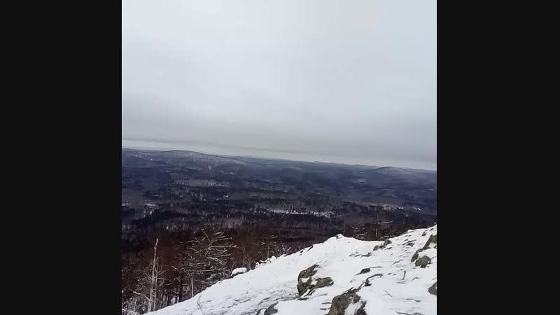 на вершине горы Сугомак