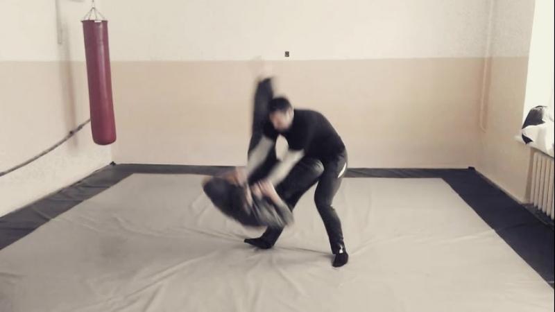 Бросок напрыгиванием и рычаг локтя. Takedown. Elbow lock. Armbar. bjj jiujitsu aikijitsu . Лаборатория АЙКИ. Система УРВД