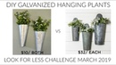 LOOK FOR LESS CHALLENGE MARCH DIY GALVANIZED WALL PLANTERS