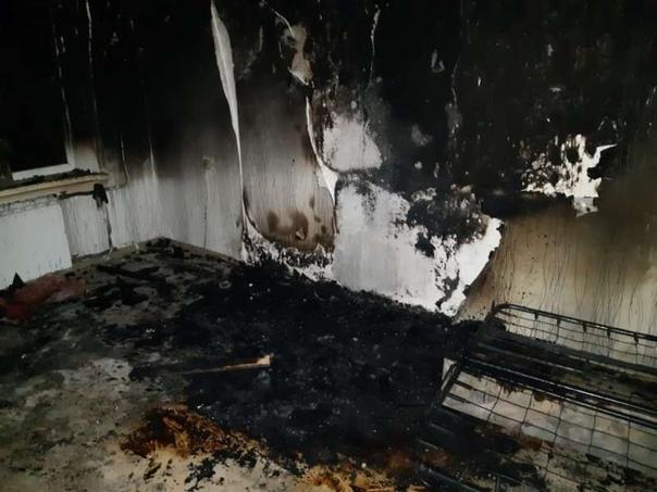 Пожар в Утсь-Илимске 02.11.2018