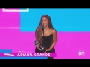 Ariana Grande getting Best Pop at the VMA's 2018