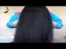 Black hair brushing super dark hair | hair Silk