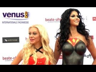 Venus Berlin,die Eröffnung der Erotikmesse mit Micaela Schäfer und Nina Kristin 2014