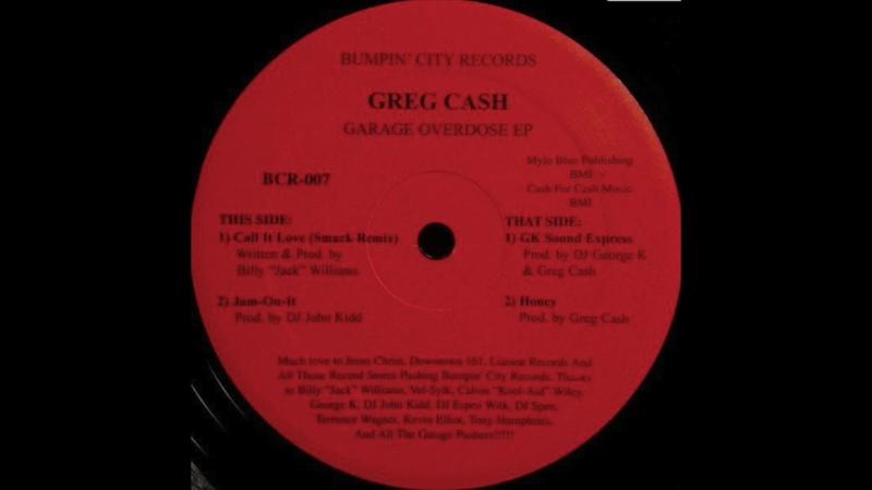 Bumpin City Records - Greg Cash Garage overdose EP