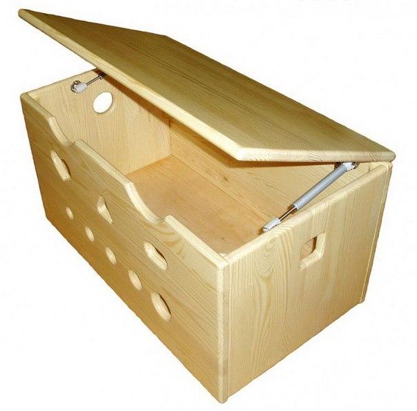 Как сделать ящик для игрушек из дерева