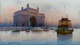 Watercolour Landscape Painting EPISODE 25 Gateway of India Mumbai Ganesh Hire